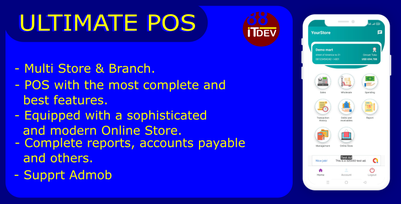 Ultimate Point Of Sales (POS) complete package, Android and Online Store with rest api php mysql - 3