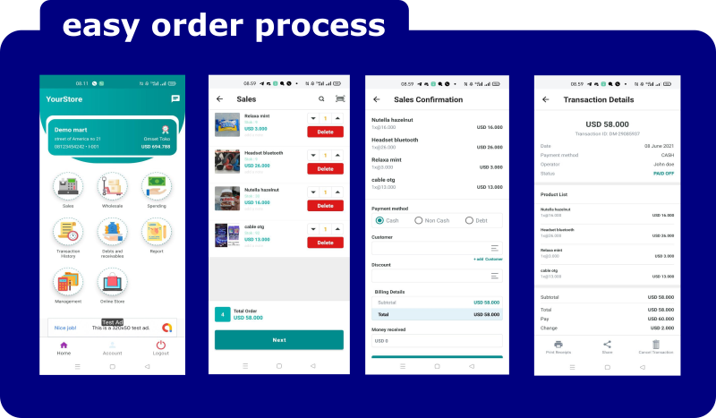 Ultimate Point Of Sales (POS) complete package, Android and Online Store with rest api php mysql - 4