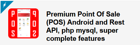 Ultimate Point Of Sales (POS) complete package, Android and Online Store with rest api php mysql - 2